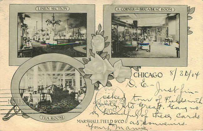Marshall Field & Co. Chicago 1904 Advertising Postcard