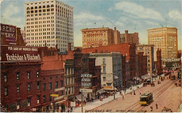 Woodward Ave Detroit Mich 1911
