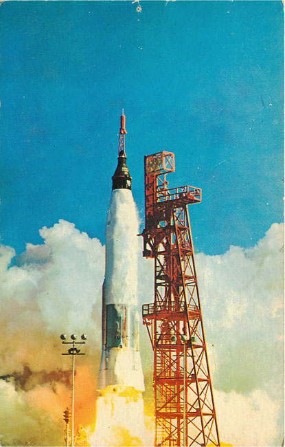 Satelite Mercury Atlas Friendship 7 1962 Postcard