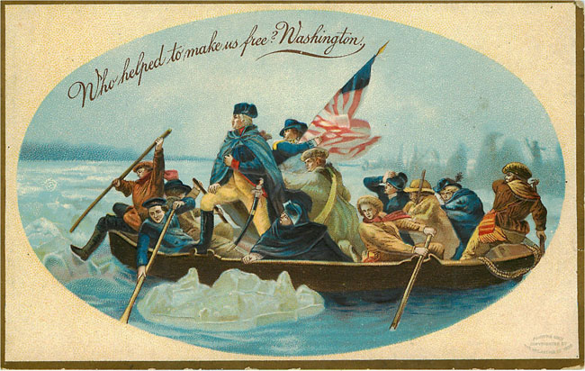 Washington crossing Delaware 1908