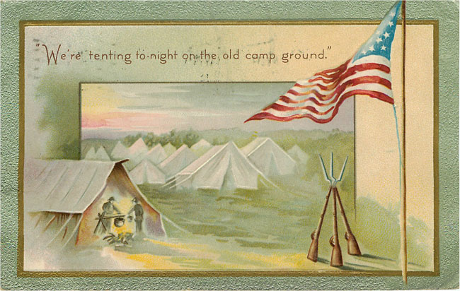 Civil War old Camp Ground 1909 War Postcard