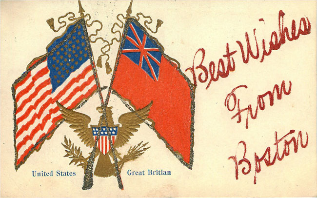 United States Great Brittian Flags
