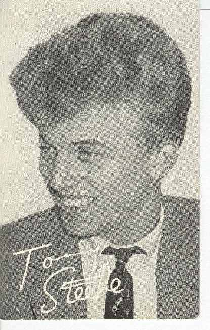 Tommy Steele Signed - Real Photo Postcard
