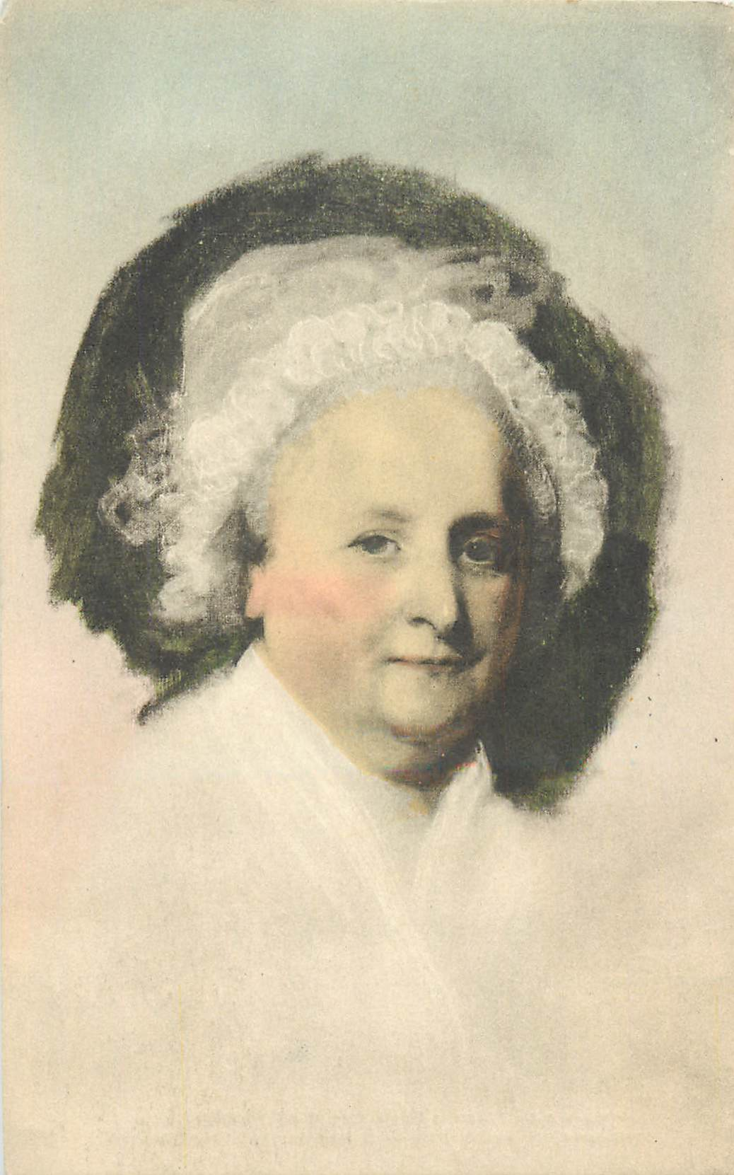 """Portrait of Martha Washington - by Gilbert Stuart"""