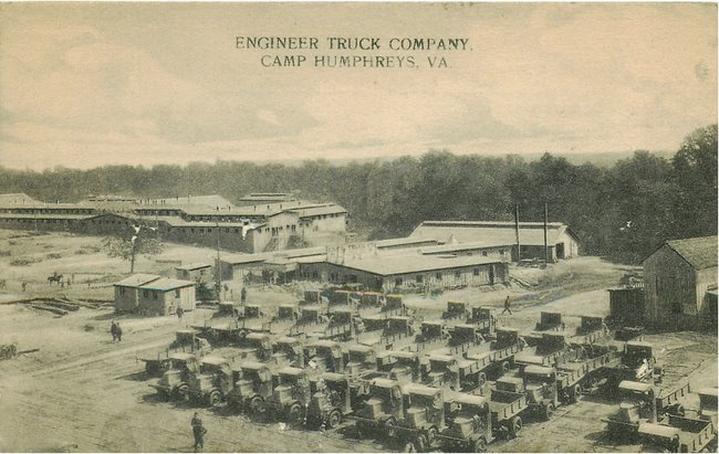 Black Americana Postcard - Engineer Truck Company,VA
