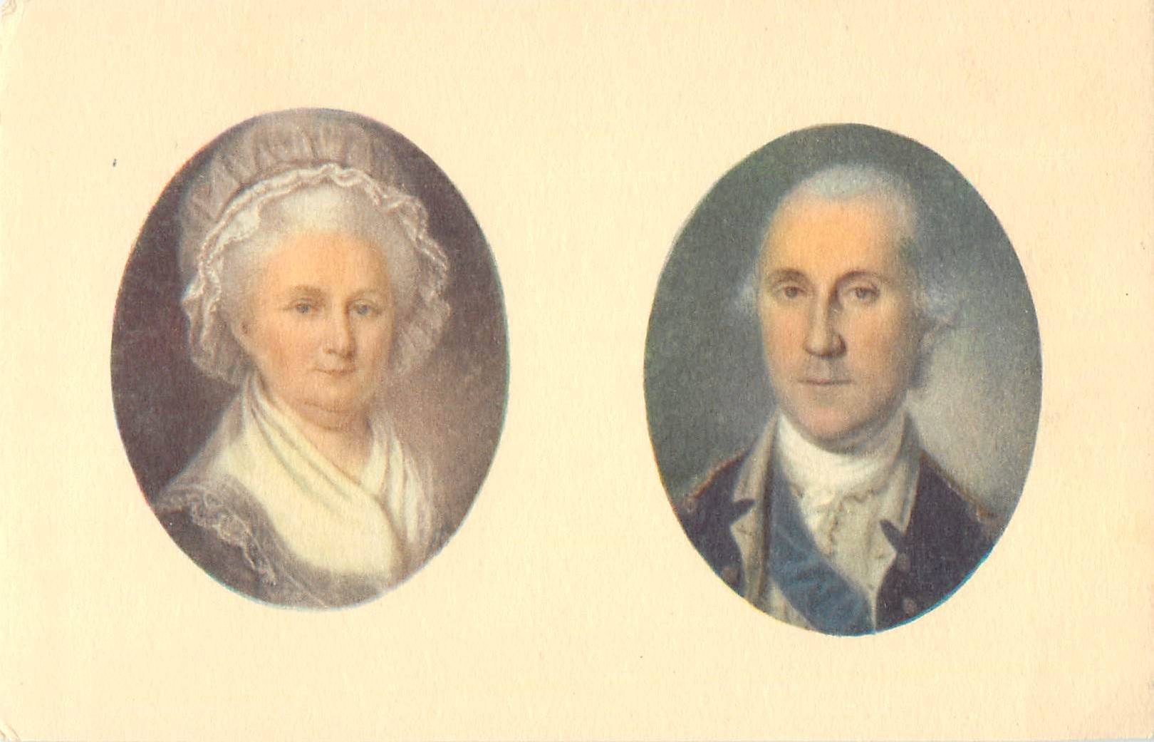 """Portraits of the Washingtons - By Charles Peale and James Peale"