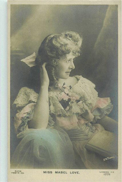 Miss Mabel Love - London E.C. No. 1771 Postcard - Click Image to Close