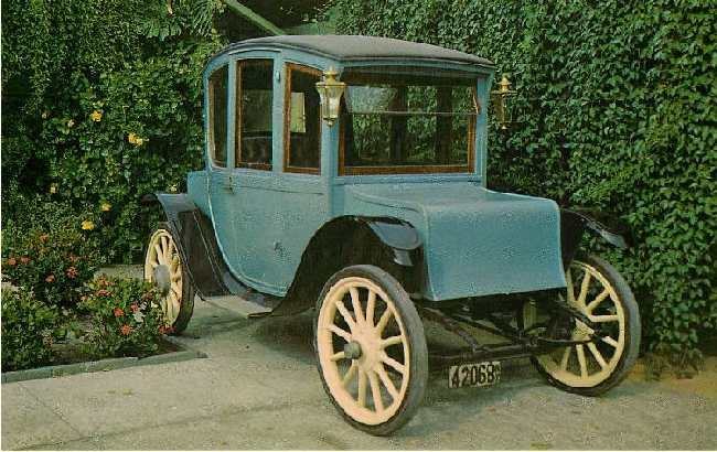 1911 Waverly Classic Car Postcard
