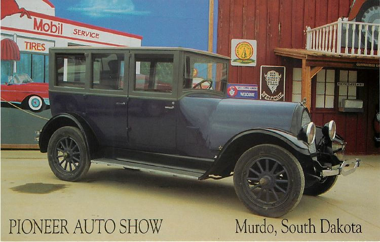 Pioneer Auto Show Murdo,South Dakota Classic Car Postcard