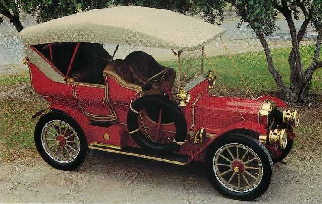 1905 Thomas Flyer Touring Car Classic Car Postcard