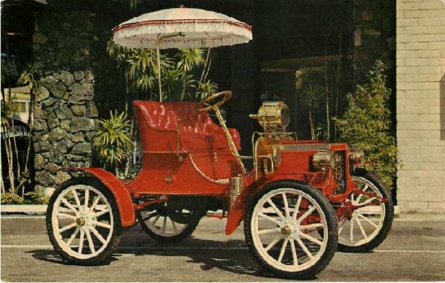 1904 REO RUNABOUT Classic Car Postcard
