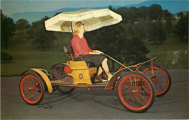 1903 Orient Car and Carriage Caravan Postcard
