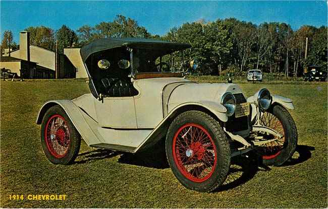 1914 Chevrolet Car Postcard