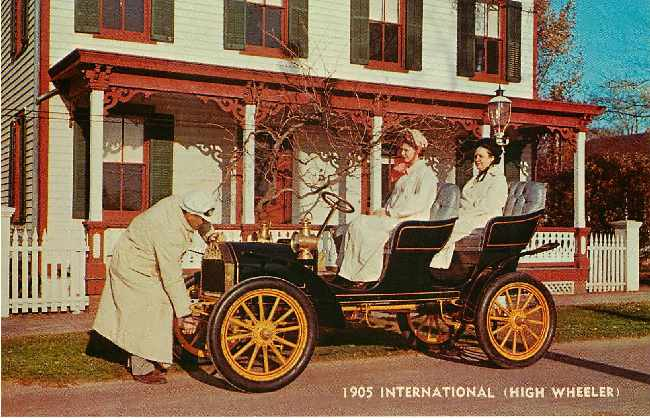 1905 International (High Wheeler) Classic Car Postcard