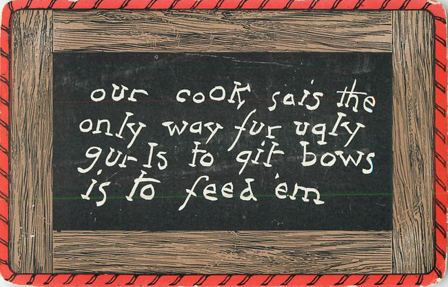 """Our cook sias"" drawing of slate/chalkboard (copy 2)"