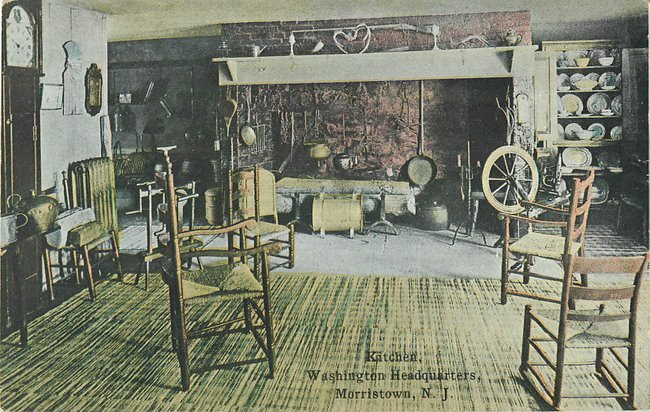 "Spinning wheel in ""Kitchen,Washington Headquarters,Morristown,NJ"