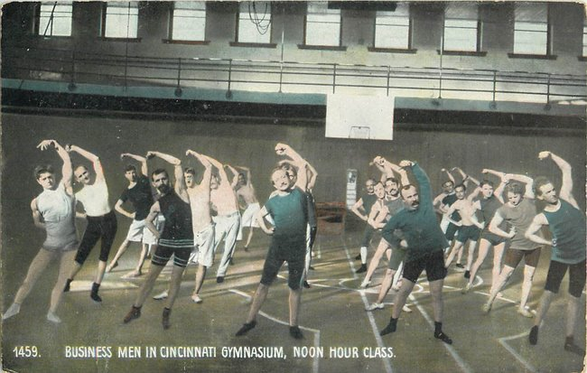 Business Men in Cincinnati Gymnasium, Noon Hour Class