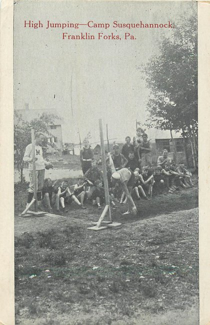 High Jumping - Camp Susquehannock, Franklin Forks, PA