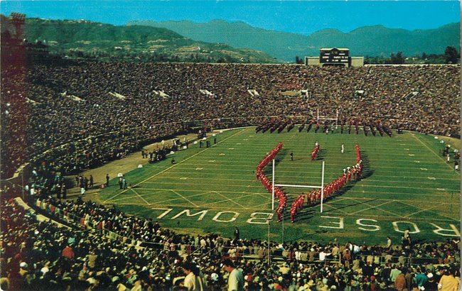 Between the halves -- Rose Bowl Pasadena, CA