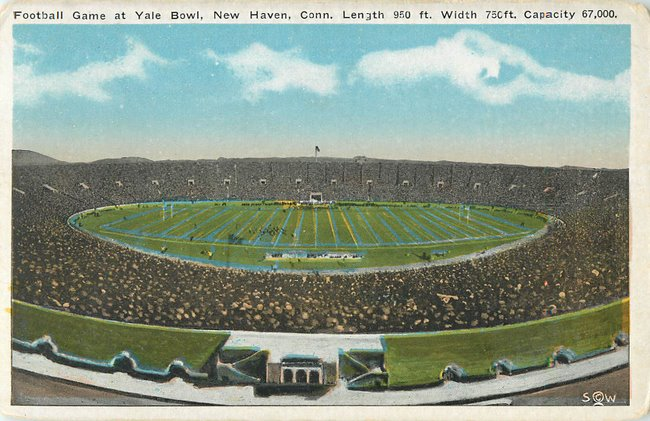 Football Game at Yale Bowl, New Haven Conn