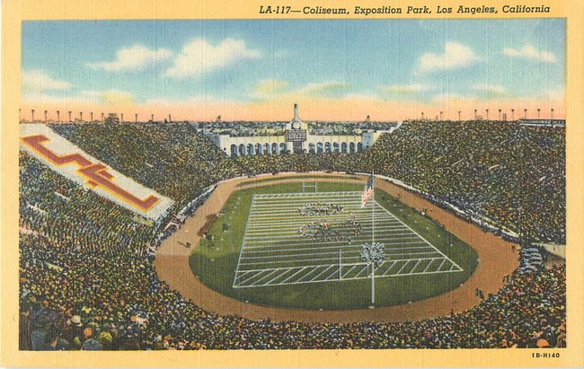 Coliseum, Exposition Park, Los Angeles, Ca