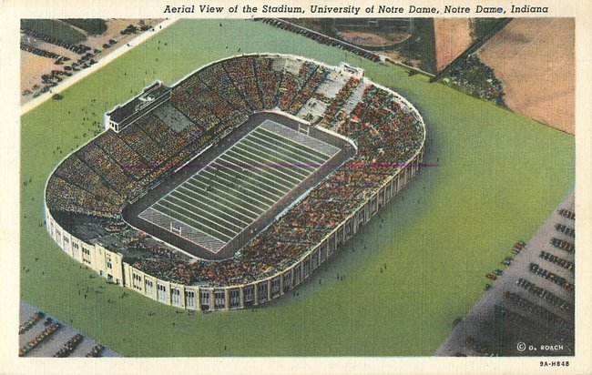 Aerial View of the Stadium, University of Notre Dame, Indiana