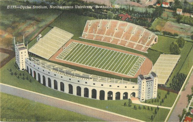 Dyche Stadium, Northwestern University Evanston, Ill