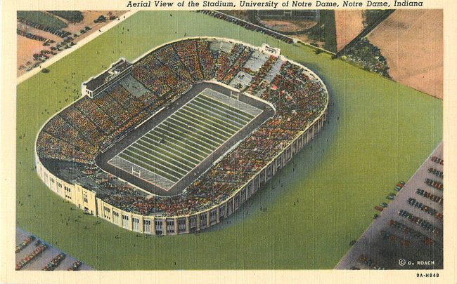 Aerial View of the Stadium, University of Notre Dame