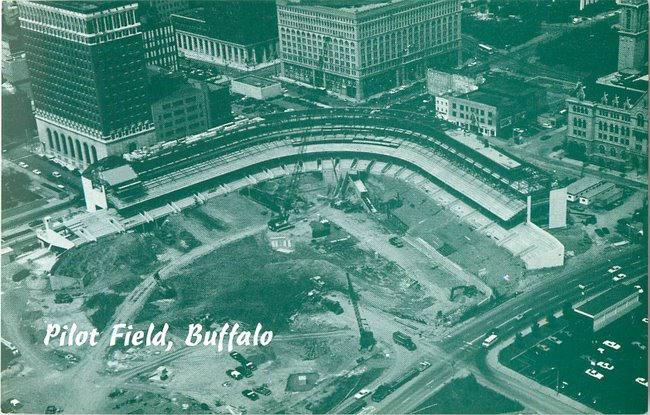 Pilot Field, Buffalo -- construction photo