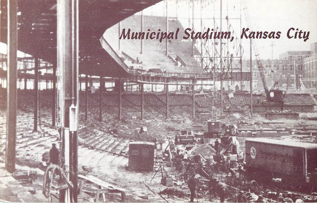 Municipal Stadium, Kansas City -- rebuilding grandstands photo