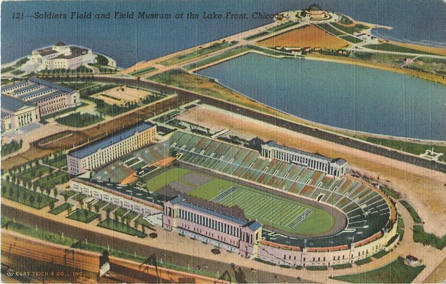 Soldiers Field and Field Musem at the Lake Front, Chicago