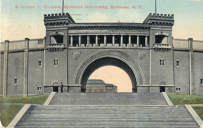 Entrance to Stadium, Syracuse University, Syracuse N.Y.