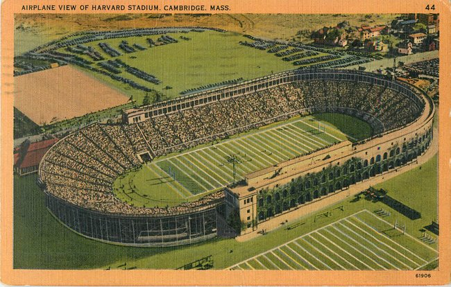 Airplane View of Harvard Stadium, Cambridge, Mass