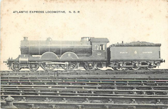 Atlantic Express Locomotive, N.E>R. Postcard