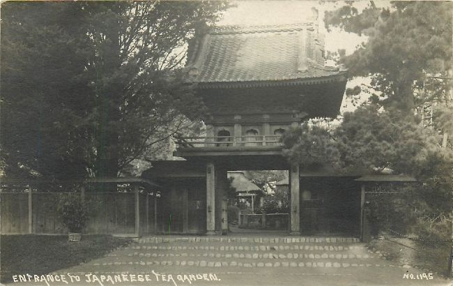 Entrance to Japaneese Tea Garden Postcard No. 1195