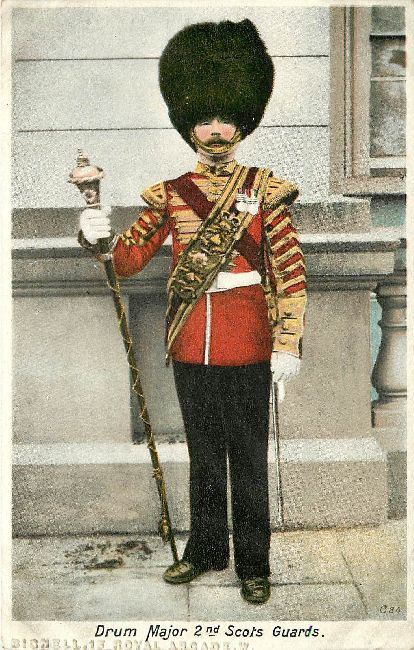 Drum Major 2nd Scots Guards Postcard