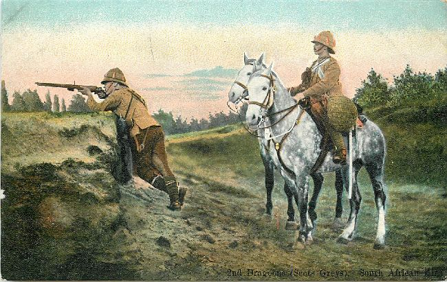 2nd Dragon Scots Greys South African Kit Great Britain Postcard