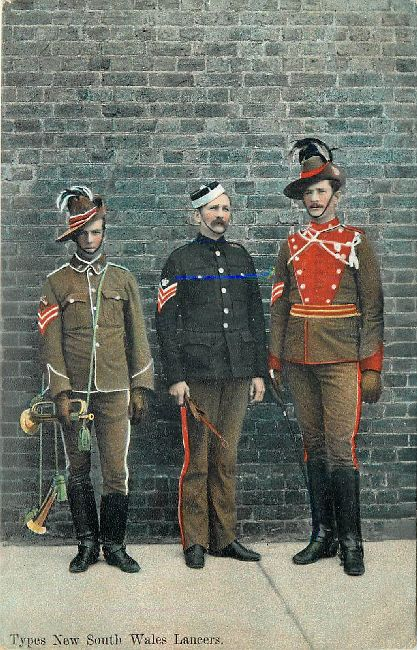 The New South Wales Lancers Great Britain Guards Postcard