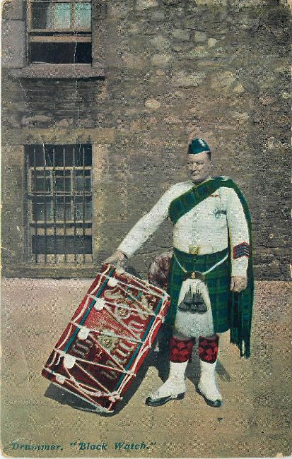 Drummer Black Watch Great Britain Guard Postcard