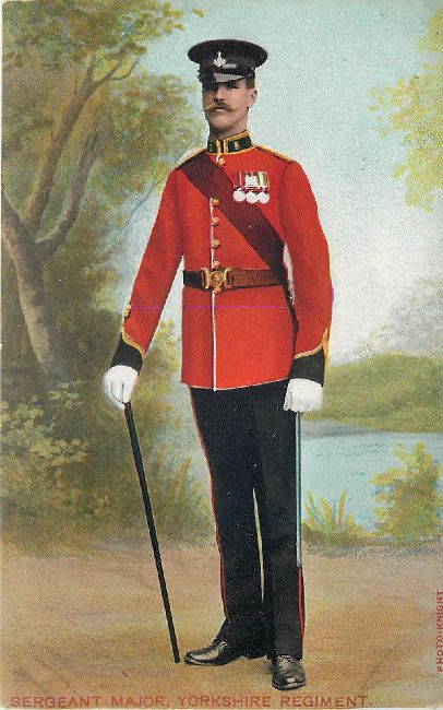 Sergeant Major Yorkhire Regiment Guard Great Britain Postcard