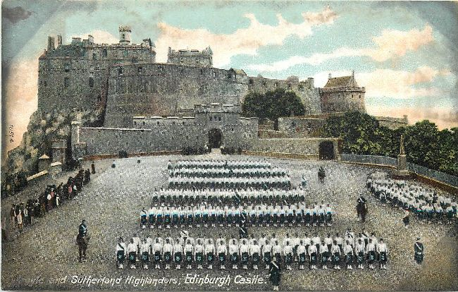 Argyle and Sutherland Highlanders, Edinburgh Castle Postcard