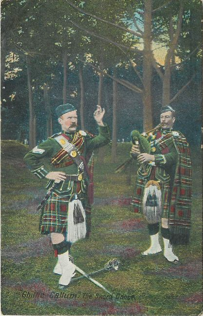 Ghillie Callum The Sword Dance Great Britain Guards Postcard