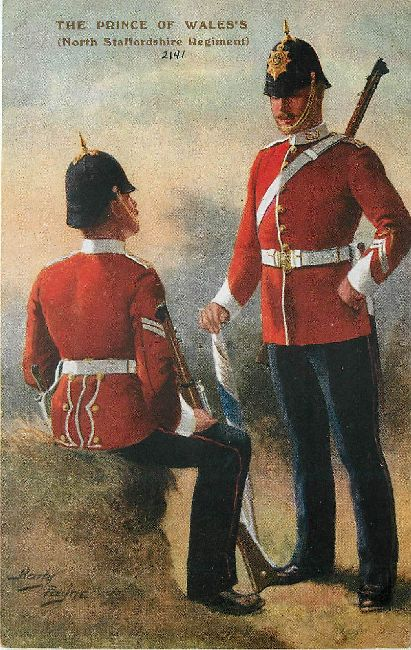 The Prince of Wales's North Staffordshire Regiment Postcard