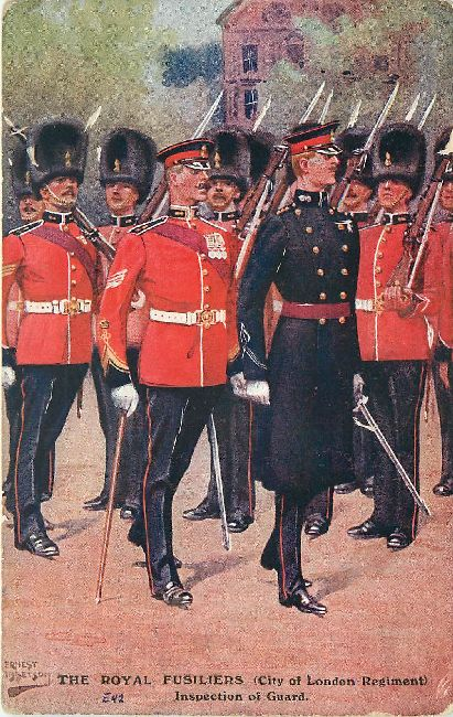 The Royal Fusiliers Guard Singed Ernest Ibbetson Postcard