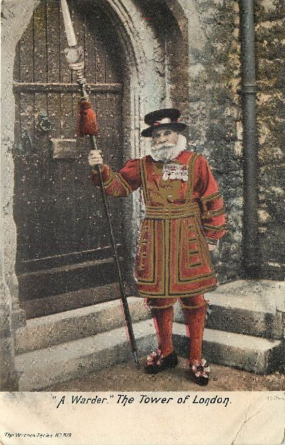 """A Warder"" The Tower of London Guard Postcard"