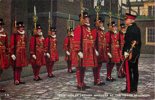 Inspection of Yeomen Warders at the Tower of London