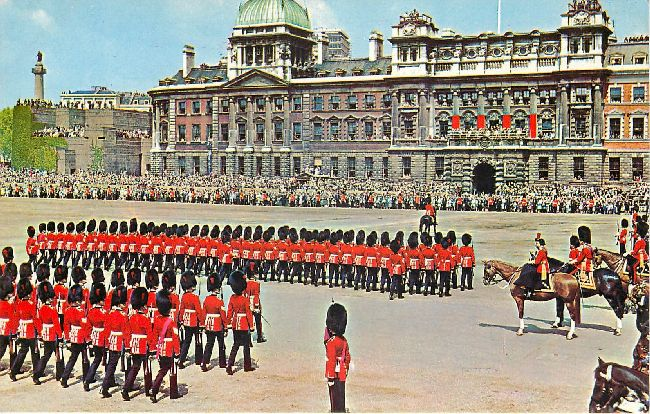 Trooping the Colour, at Horseguards Parade, London