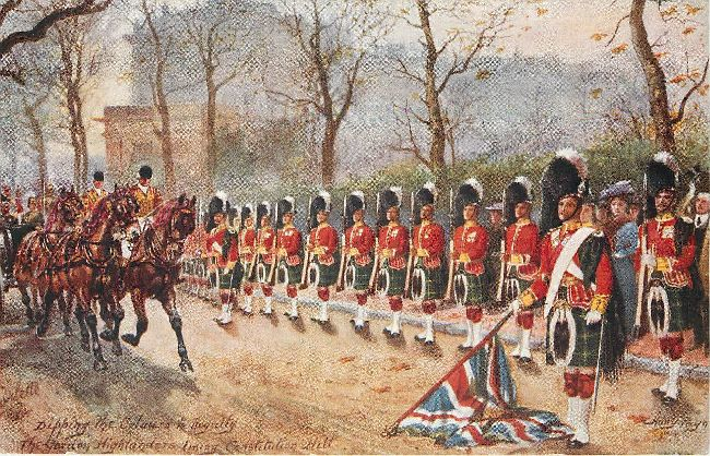 The Gordon Highlanders - signed by Harry Payne