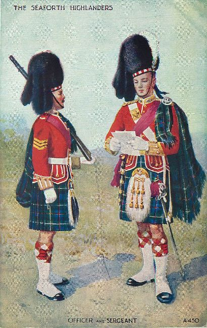 The Seaforth Highlanders - Officer and Sergeant