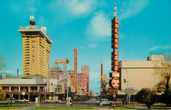 Looking Eastward on Fremont Street Postcard